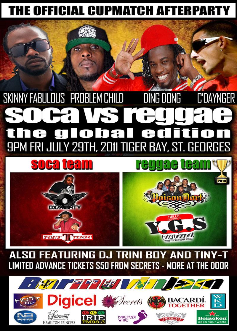 Soca vs Reggae - The Global Edition