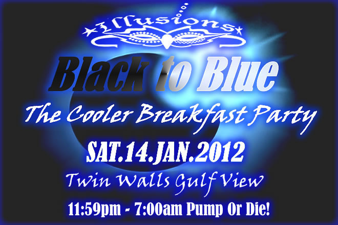 Illusions Black To Blue- The Cooler Breakfast Party