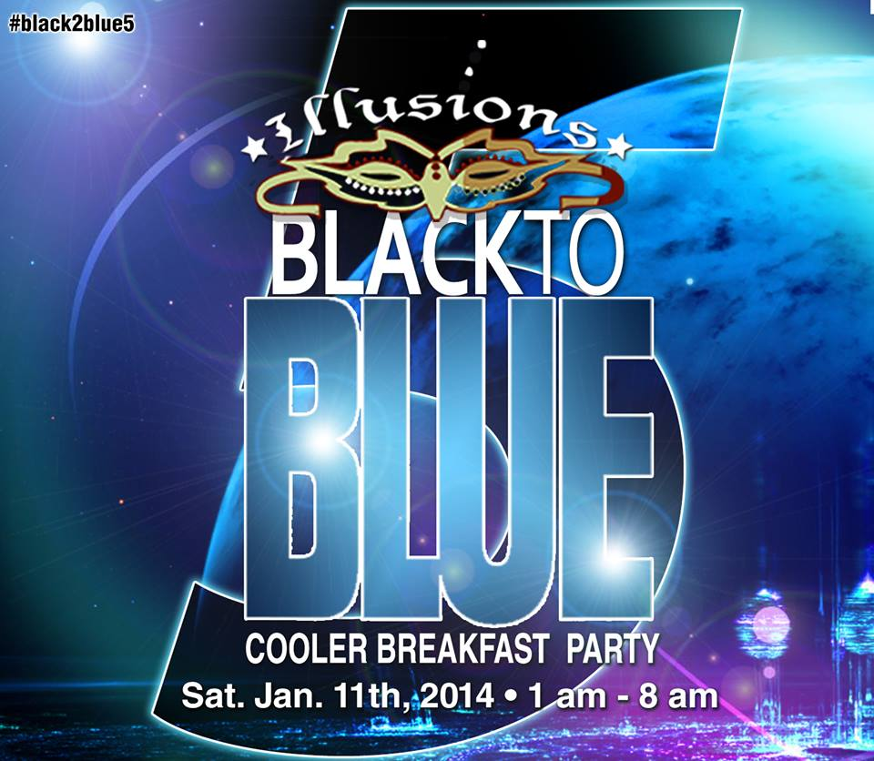 black to blue breakfast cooler party
