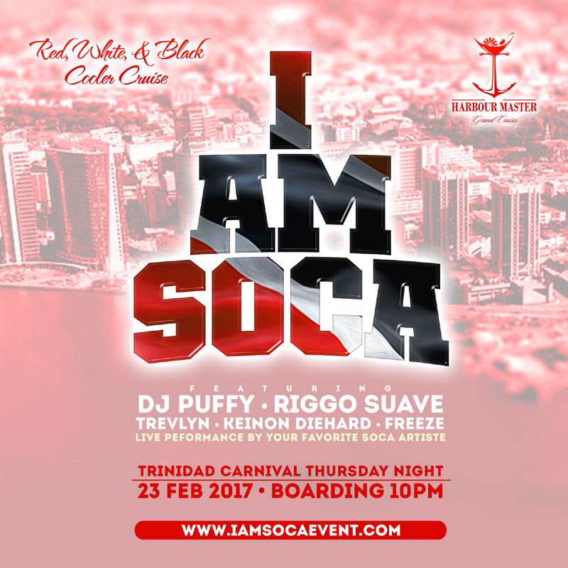 "I AM SOCA TT ""Red, White, & Black Cooler Cruise"""