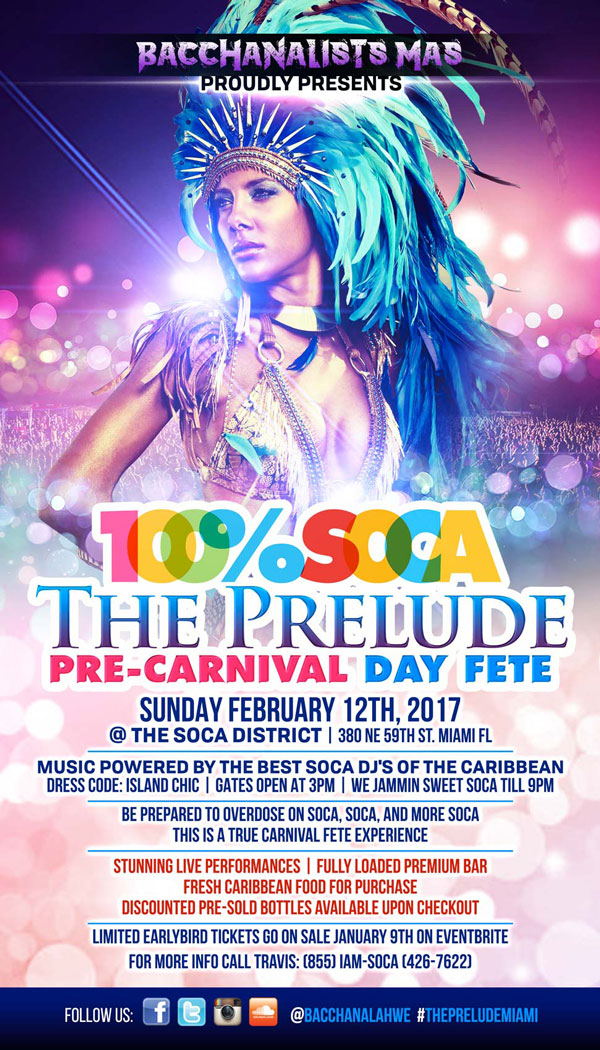 The Prelude - 100% SOCA Pre-Carnival Day Fete