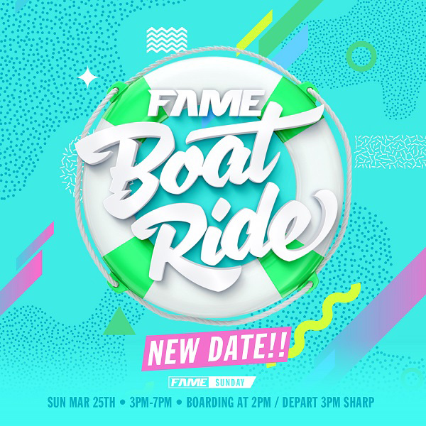 FAME SUNDAY Boat Ride