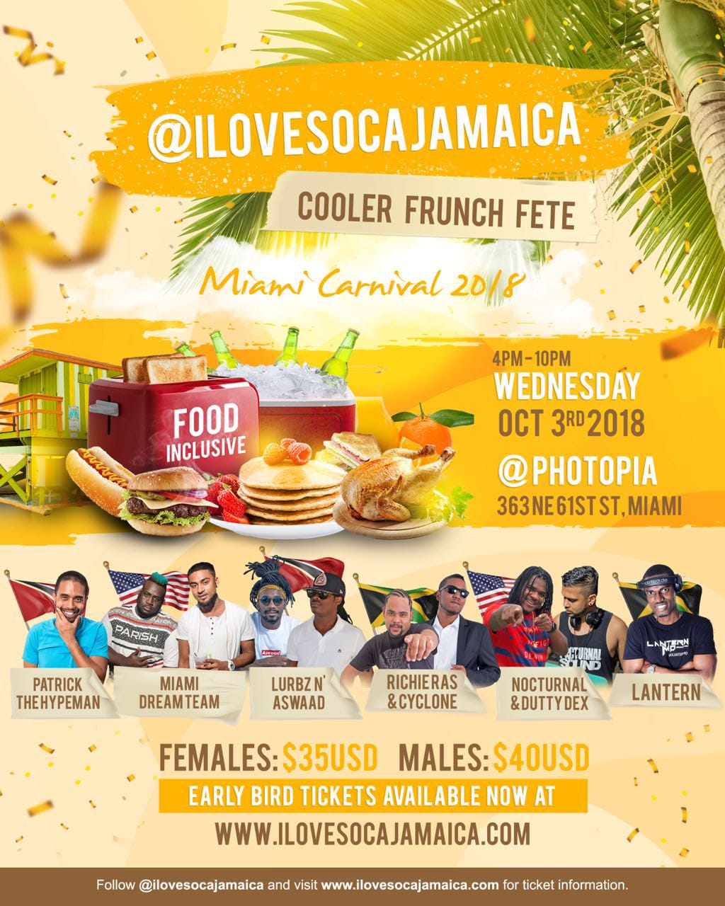 I Love Soca Jamaica Cooler Frunch Fete