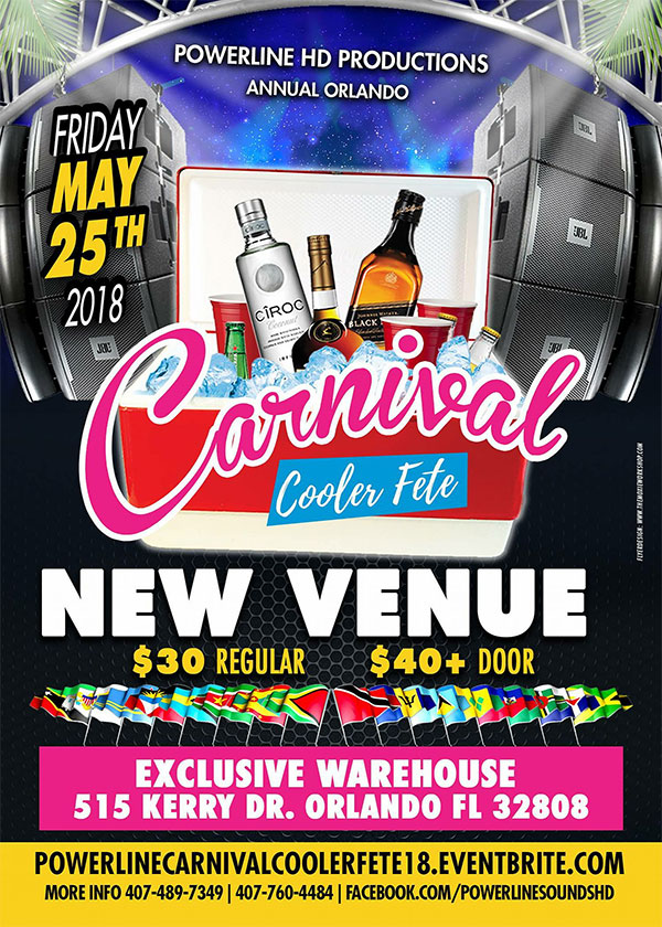 Powerline Annual Carnival Cooler Fete