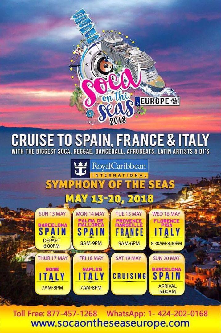 Soca On The Seas 2018 Europe: Unity Edition