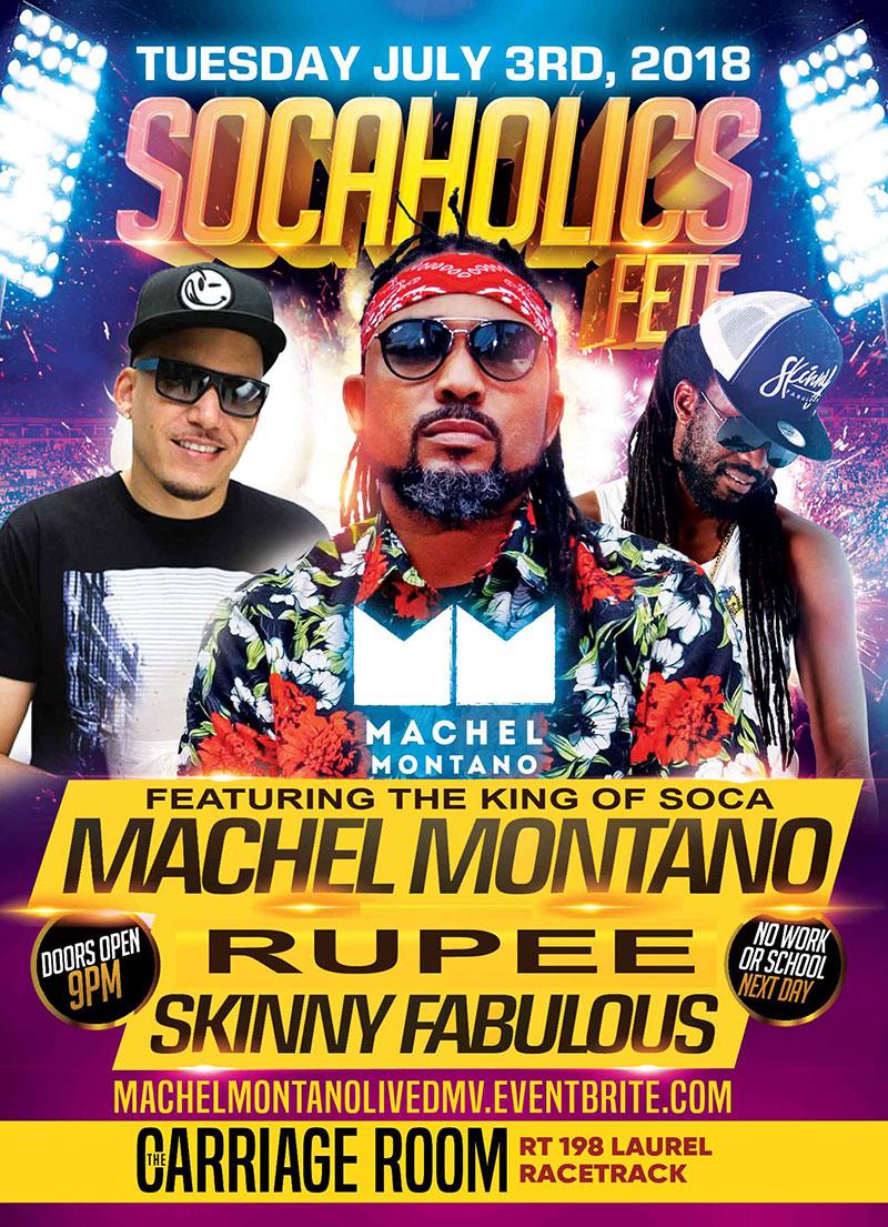D.M.V Machel Montano Live - Socaholics Fete