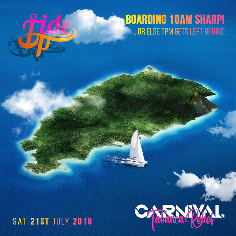 TIDE UP 2018: Carnival Tabanca Relief Cruise