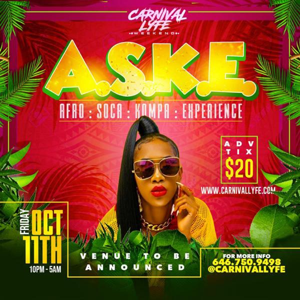 A.S.K.E - Afro | Soca | Kompa - Experience (Miami Carnival 2019 Edition)