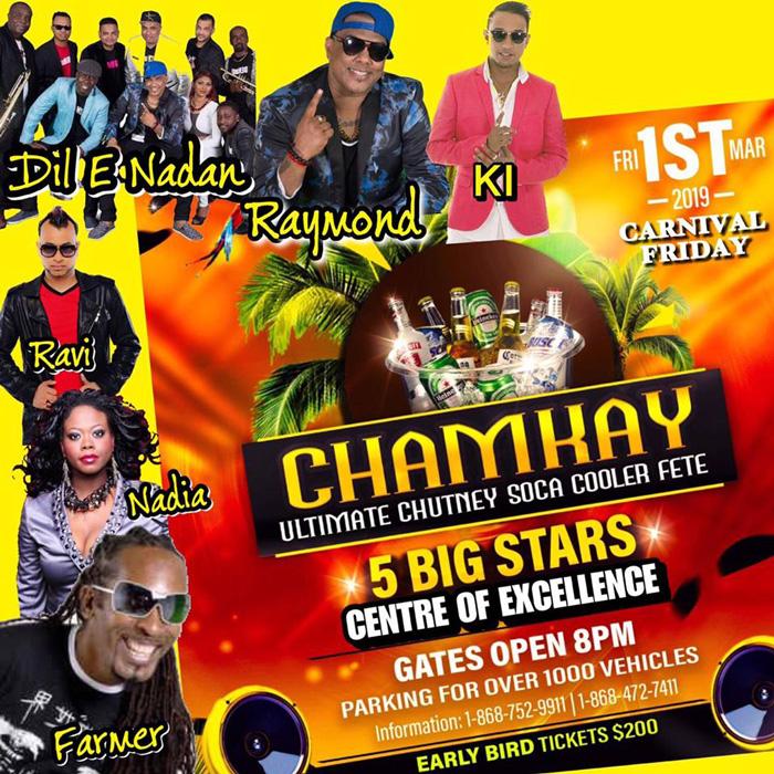 Chamkay - Ultimate Chutney Soca Cooler Fete