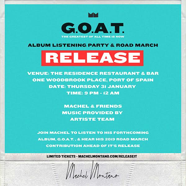 Machel Montano G.O.A.T. Album Listening Party & Road March Release