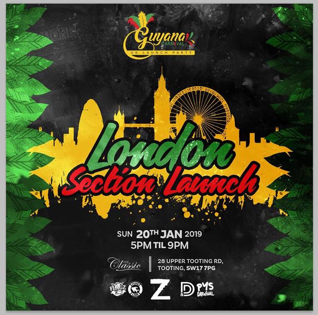 Guyana Carnival UK Launch Party