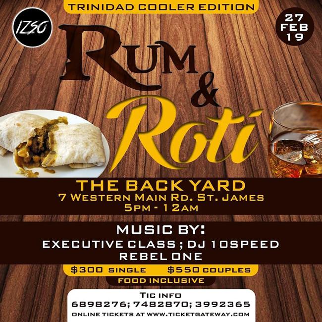 Rum & Roti - Cooler Fete