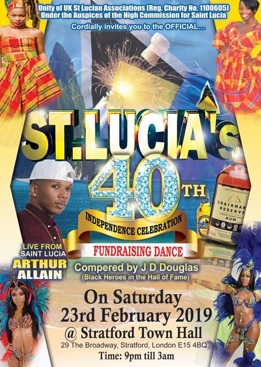 Unity of UK St. Lucian Associations - 40th Independence Celebration Dance