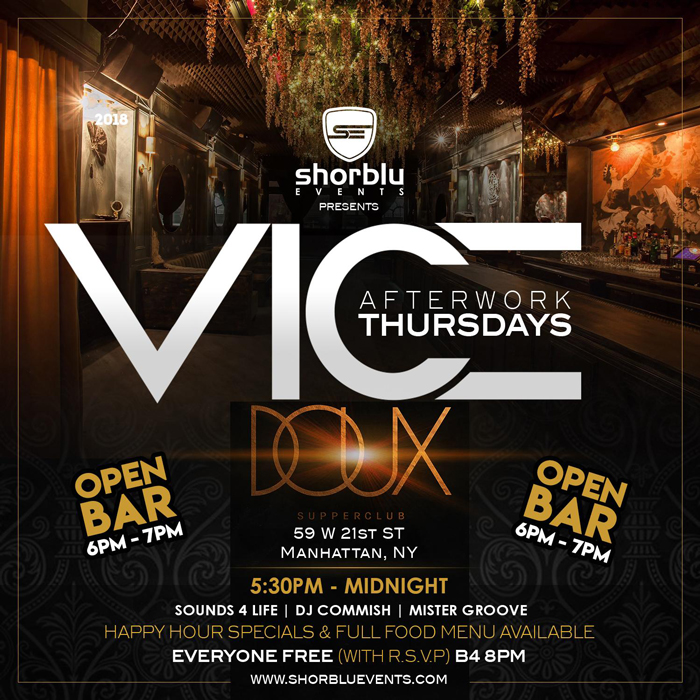 Vice After Work Thursdays (Caribbean)