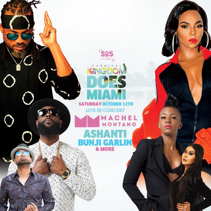 Machel Montano | Bunji Garlin | Ashanti and More for Carnival Kingdom Does Miami