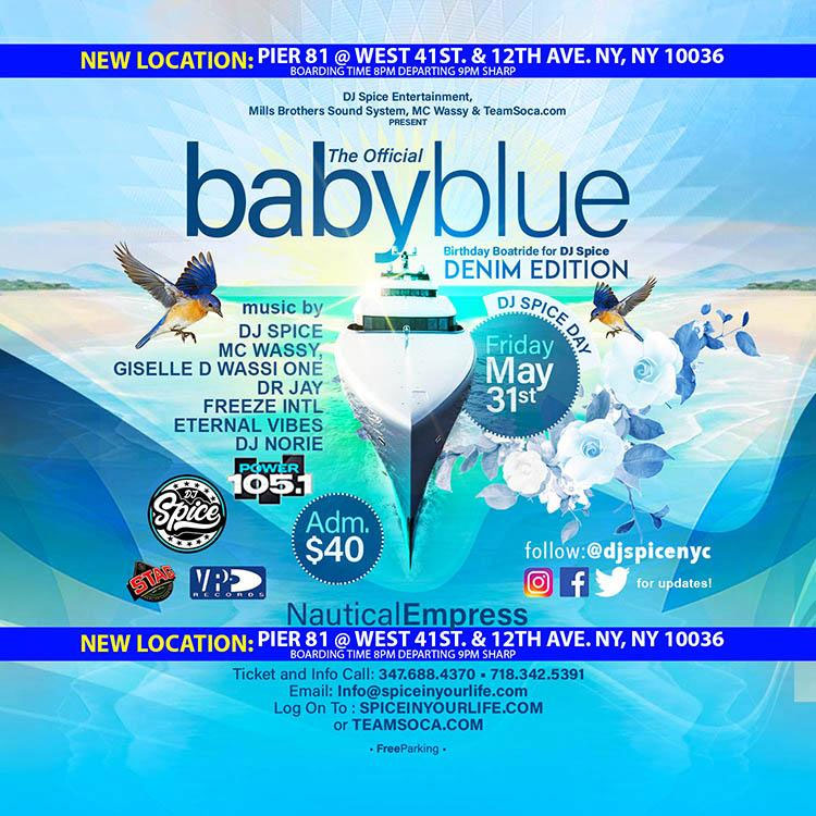 The Official Baby Blue Birthday Boat Ride for DJ Spice Denim Edition