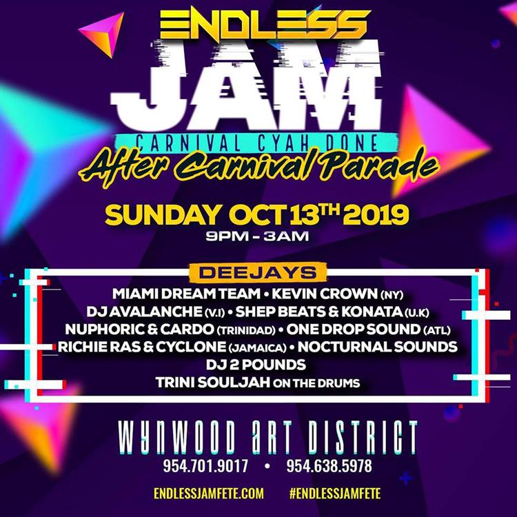 Endless Jam Fete - Carnival Cyah Done