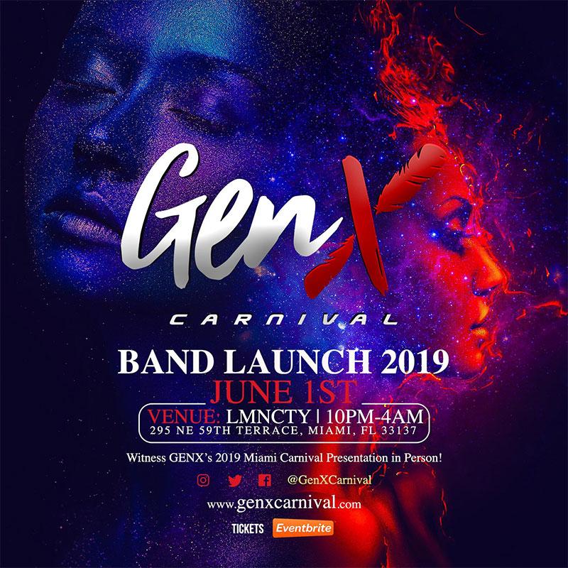 GenX Carnival Band Launch 2019
