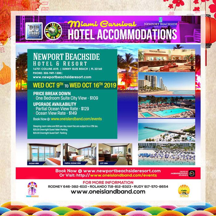 Miami Carnival Hotel Accommodations