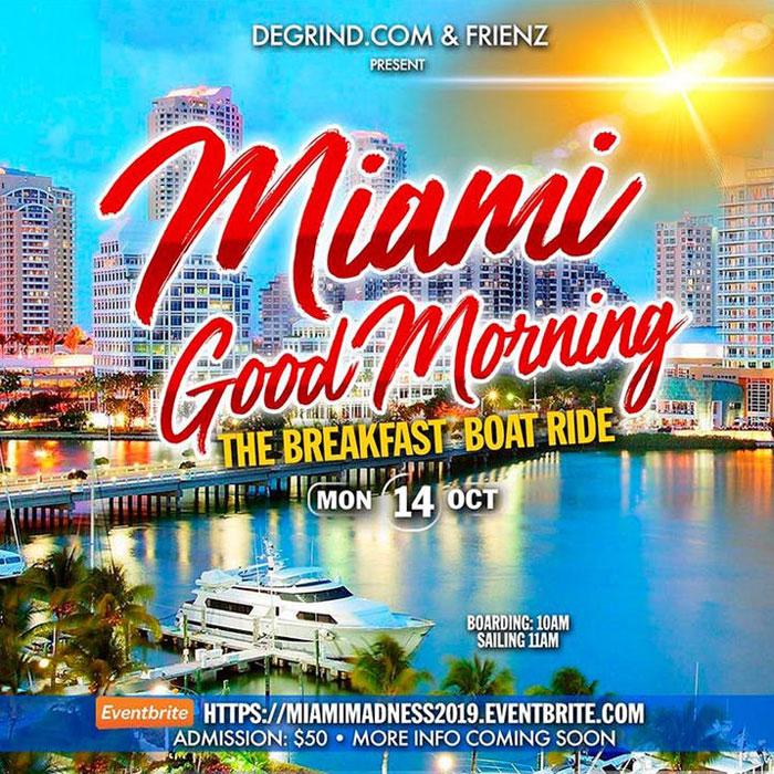 """Miami Good Morning"" Breakfast Boatride"