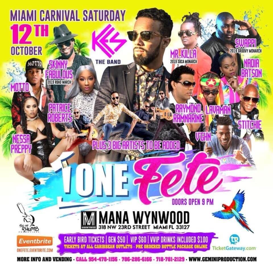 One Fete - Miami Carnival 2019