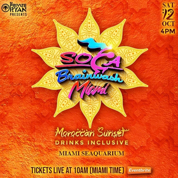 Soca Brainwash Miami 2019 - Moroccan Sunset