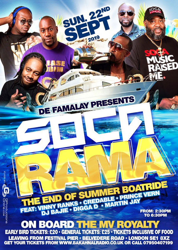 Soca Rama - End of Summer Cruise