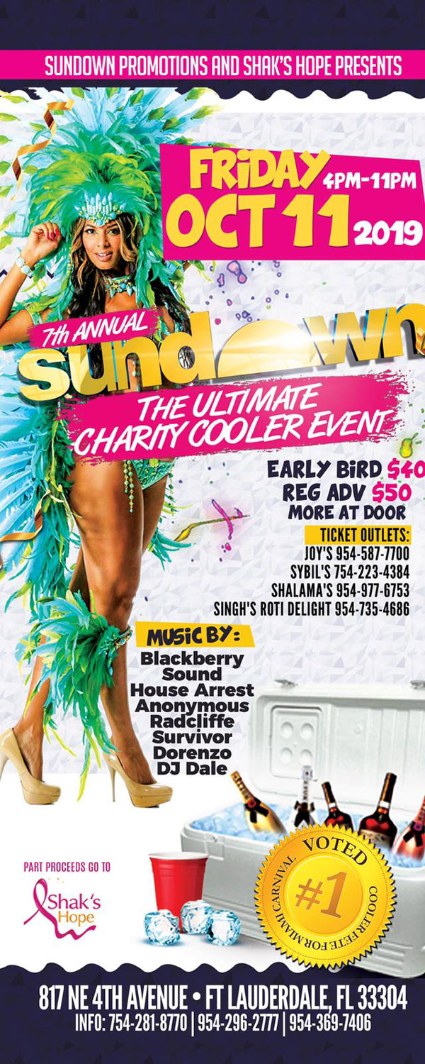 SUNDOWN The Ultimate Carnival Cooler Fete