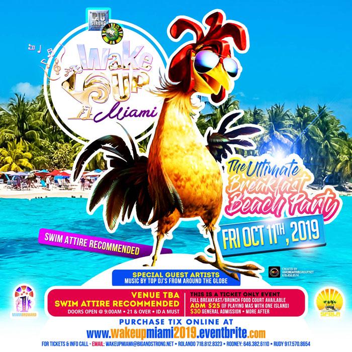 Wake Up Miami - Breakfast Beach Party