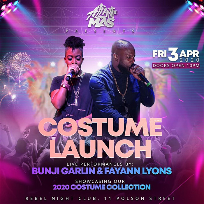 Bunji Garlin and Fayann at Costume Launch 2020