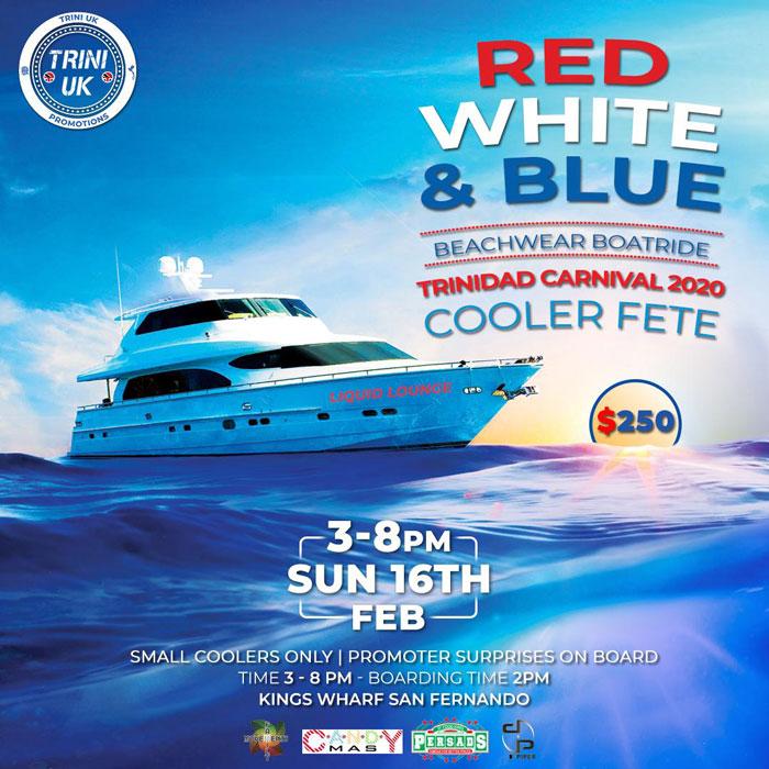 Red White & Blue - Beachwear Boatride