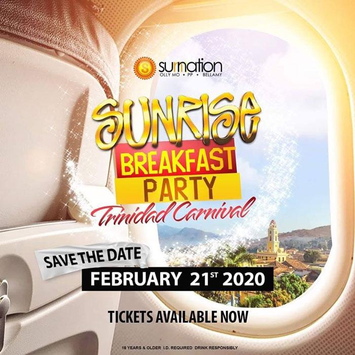 Sunnation Sunrise Breakfast Party Trinidad Carnival