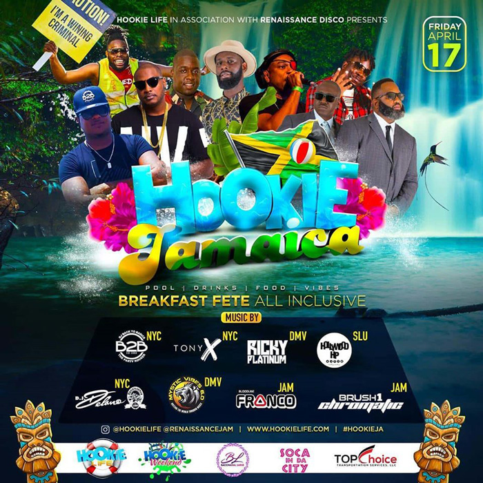 Hookie Jamaica 2020 - All-Inclusive Breakfast Pool Party