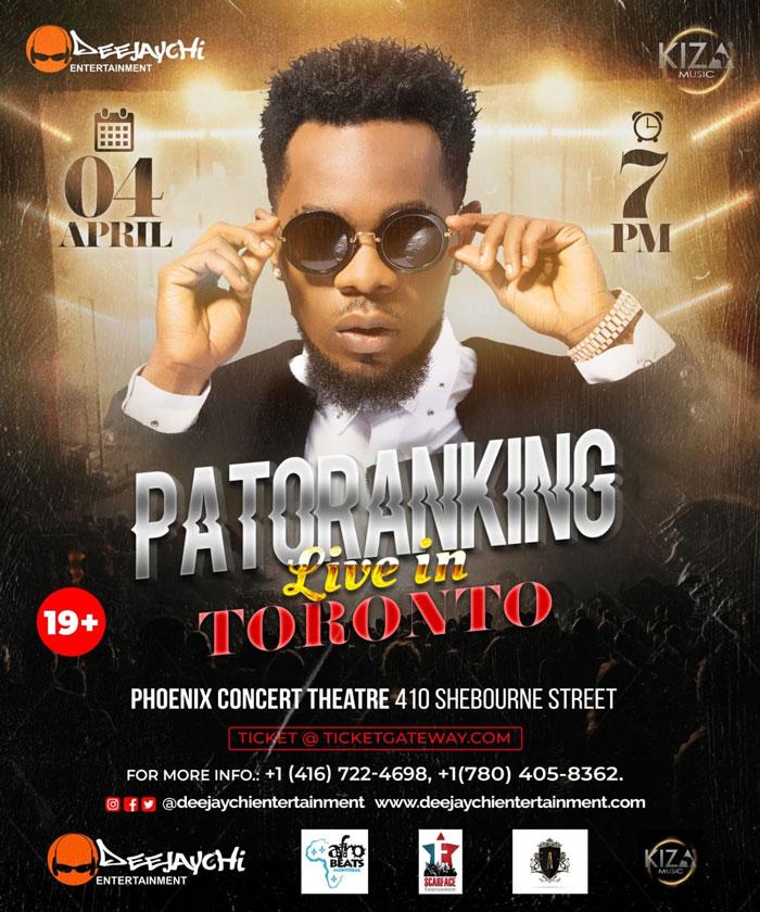 Patoranking Live Toronto