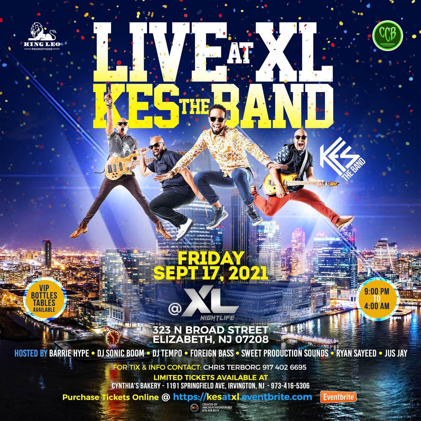 Kes the Band 𝗟𝗜𝗩𝗘 at XL New Jersey
