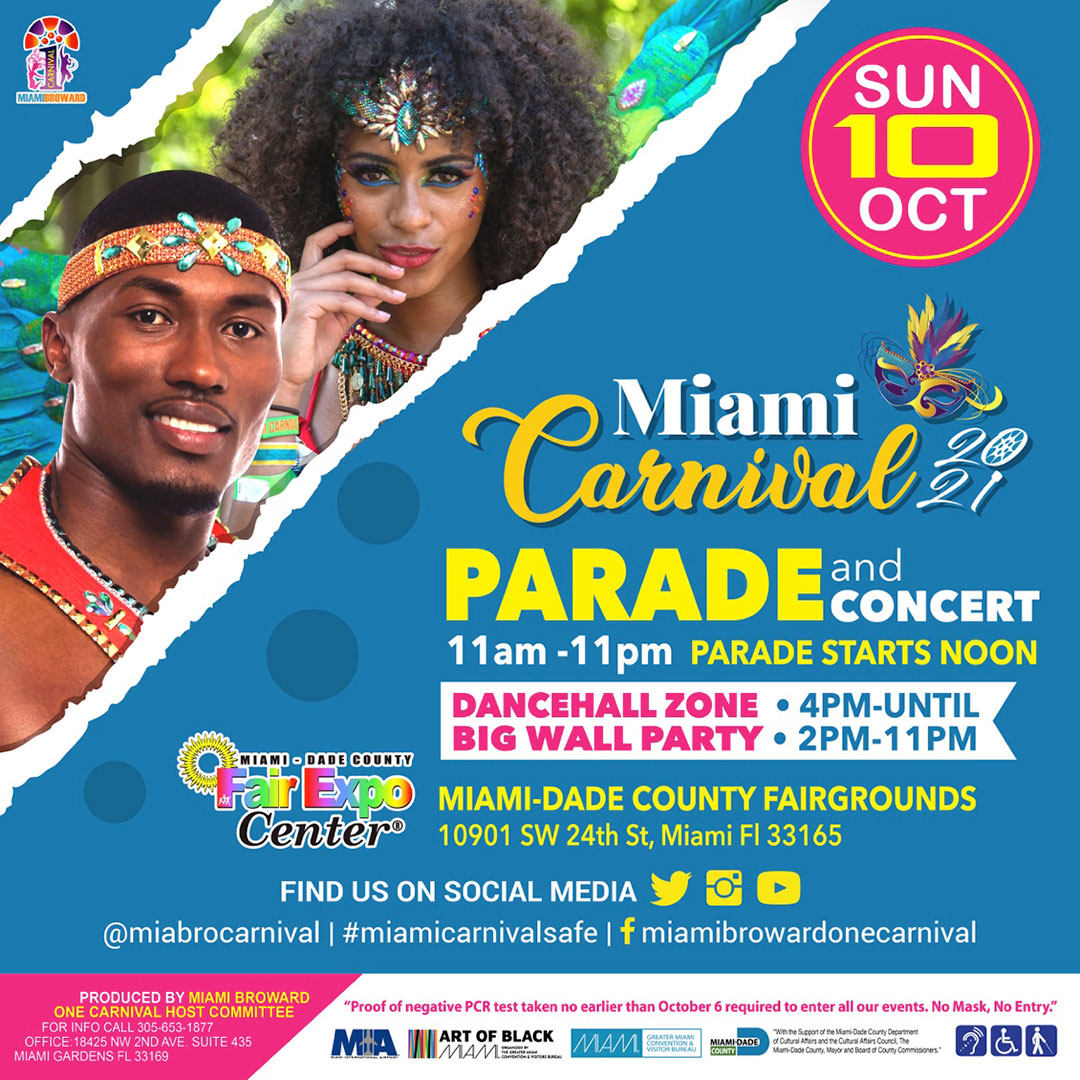 Miami Carnival Parade of Bands and Concert 2021