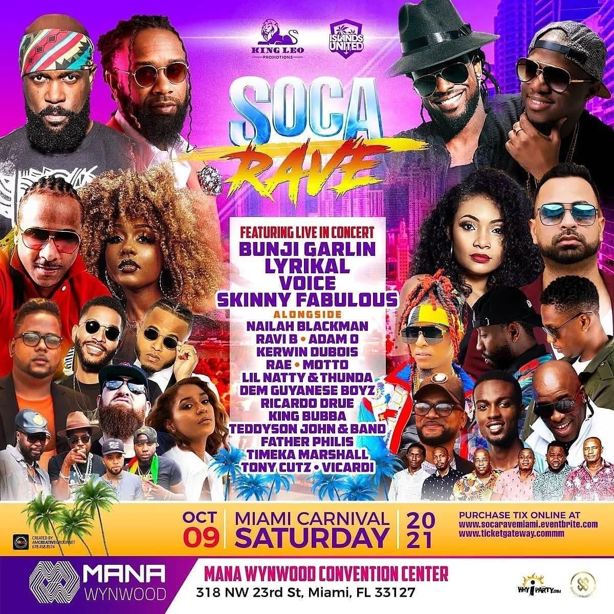 Soca Rave Miami Carnival 2021