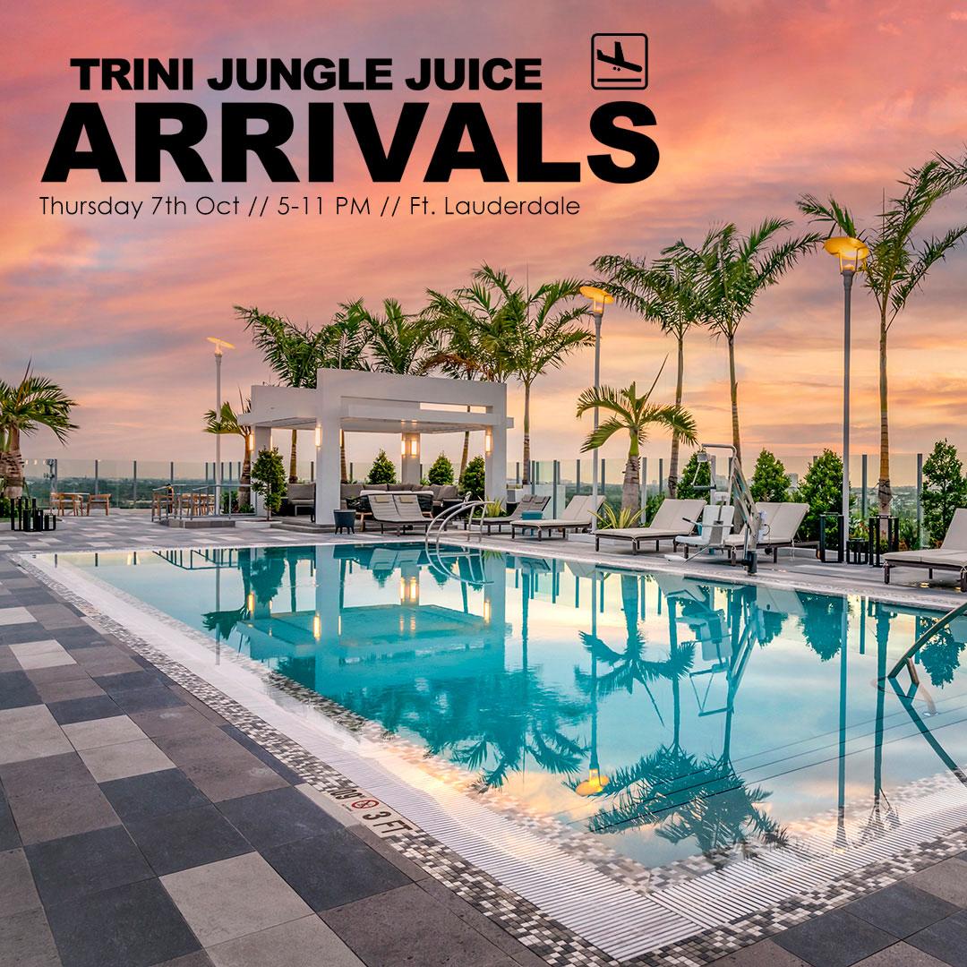 Trini Jungle Juice ARRIVALS Miami Carnival 2021 Rooftop Pool Venue