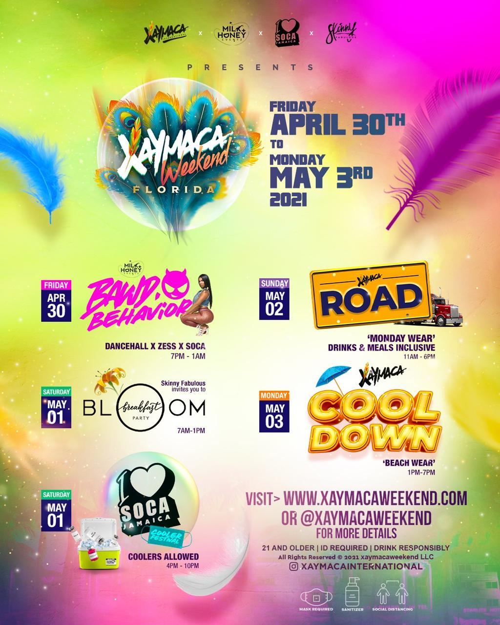 Xaymaca Weekend Florida 2021