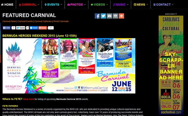 Trinidad Carnival Banners Invitation Banners