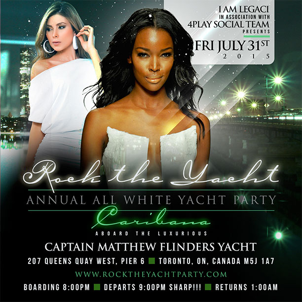 Rock The Yacht Toronto Caribana 2015 Annual All White Yacht Party