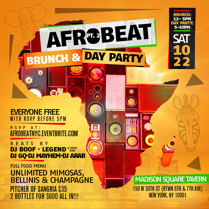 AFROBEAT Pt  2 Brunch and Day Party :: TriniJungleJuice
