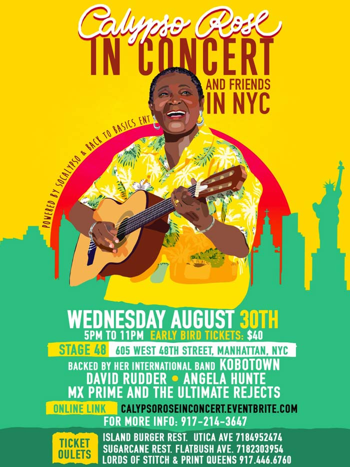 Calypso Rose & Friends In Concert (NYC) - Powered By SoCalypso & Back to Basics Entertainment