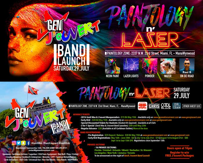 "GenX Jouvert Launch ""Paintology N"