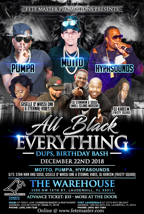 All Black Everything - Dups, Birthday Bash