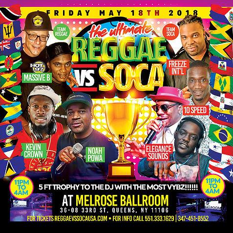 The Ultimate Reggae Vs Soca NYC