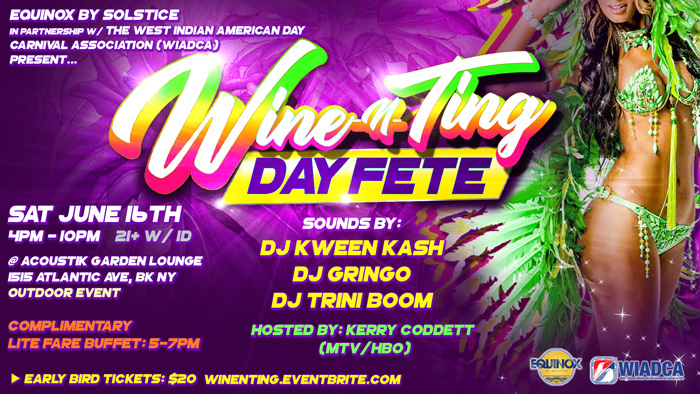 Wine-N-Ting Day Fete! Caribbean Heritage Month Celebration!
