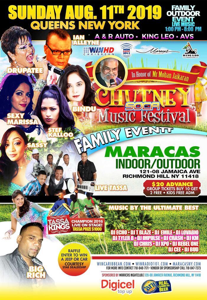 Chutney Soca Music Festival 2019