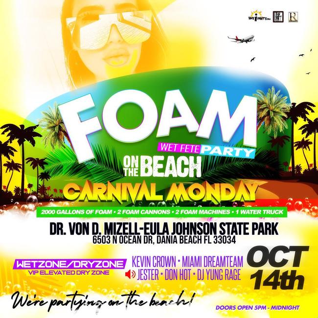Foam Wet Fete Party on the Beach