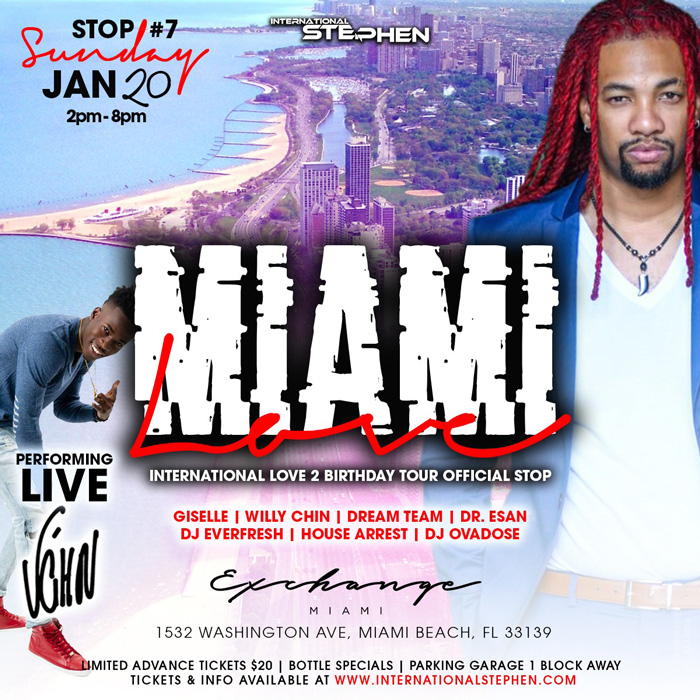 """MIAMI LOVE"" - DJ Stephen BDay Bash"